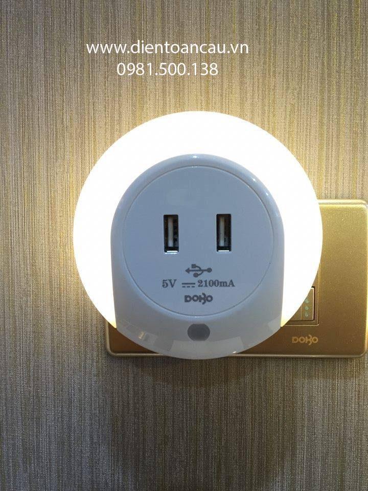 đèn ngủ thông minh có sạc usb cảm biến ánh sáng